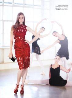 Tervező: Sármán Nóra Ruha: Red dress / piros csipkeruha Szalon: Fehér Szalon Bp.