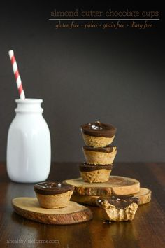 almond butter chocolate cups recipe - gluten free, paleo, grain free, dairy free |