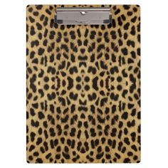 Leopard Print Clipboard http://www.zazzle.com/leopard_print_clipboard-256719915595350506?rf=238271513374472230  #school supplies