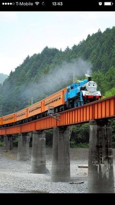 Real Thomas Train is running in Japan.