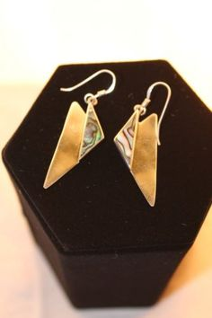 Paua-Shell-and-Silver-Earring-925