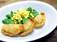 corn-and-chorizo-empanadas-with-watercress-salad... Extremely high reviews on Bravo's Around the World in 80 Plates (by some top chefs and the diners)!