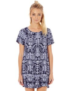 Zip Back T Shirt Dress