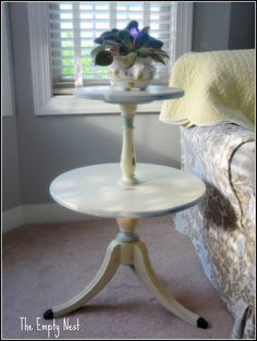 2 Tiered Pie Crust Table Upcycle