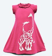 Cotton and Bamboo Dresses by Wee Urban www.weeurban.com #giraffes #pink