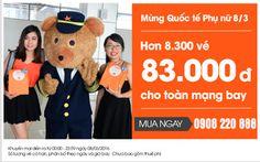 Mừng ngày quốc tế phụ nữ vé máy bay đi Đà Nẵng 83.000 đồng