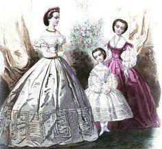 Ladies Of The 1860s: Journal de Demoiselles for January 1862
