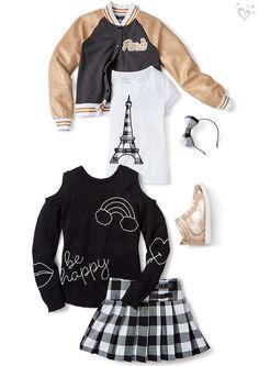 Perfect Paris meets cool-for-school staples.