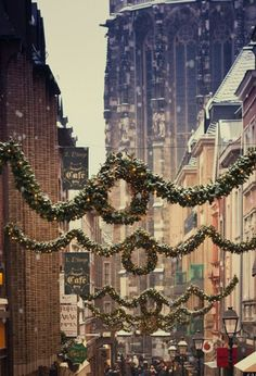 This looks like the decorations that were put up in the small town I grew up in.