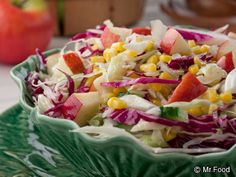 This great coleslaw recipe for Apple Cider Slaw is a colorful and healthy coleslaw recipe you'll want to pair with all of your favorite dishes! Potluck Dishes, Dinner Dishes, Work Potluck, Side Dishes, Main Dishes, Healthy Coleslaw Recipes, Salad Recipes, Diabetic Recipes, Cooking Recipes
