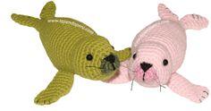Cómo tejer focas a crochet en la técnica del amigurumi