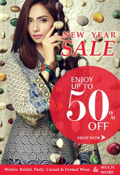 Avail This Exciting New Year Special Discount Offers on designer women winter dresses, party dresses, designer Chiffon dresses, designer casual and formal dresses, handbags, Shoes, jewelry, tops and much more! Visit our store for hundreds of discounted products for Pakistani & Indian women who love latest fashion. Custom stitching available with worldwide shipping.