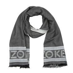 Kenzo Kenzo Schal – Kenzo Logo Scarve Black – in grau – Schal für Damen
