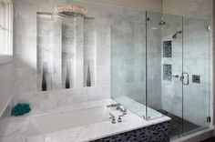 inset shelves in shower