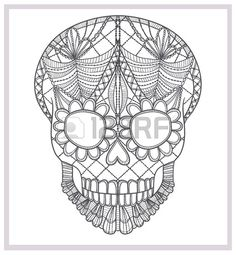 Abstract skull lace ornament  #abstract, #art, #backgrounds, #black, #bone, #crochet, #cute, #danger, #dark, #dead, #death, #decoration, #design, #detail, #doodle, #evil, #floral, #flourishes, #flower, #gothic, #grunge, #halloween, #head, #horror, #human, #illustration, #lace, #latin, #latino, #leaf, #mexican, #mexico, #object, #ornament, #ornate, #pattern, #scary, #shape, #skeleton, #sketch, #skull, #spooky, #style, #symbol, #tattoo, #123rf, #123rfteamuk, #stockphotography