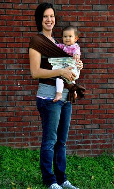 Love this pattern. Baby Carrier Wrap/Sling Soft and Stretchy by AsYouStitchBaby, $40.00