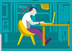 Don't put yourself at risk while working. Learn how to acquire a proper posture when working in front of your computer.