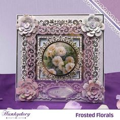 Frosted Florals   Hunkydory Crafts