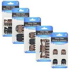 Basic Solutions Animal-Print Claw Clips (Set of Claw Clip, Fancy Hairstyles, Travel Size Products, Claws, Hair Care, Bathroom Stuff, Animal, Dollar Tree, Hair Products