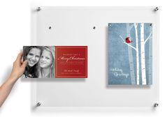 PopsterPlus  can use single pane of plexi glass, use magnets to hold the pictures in place