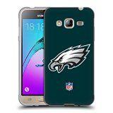 Official NFL Plain Philadelphia Eagles Logo Soft Gel Case for Samsung Galaxy J3