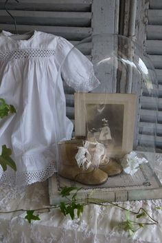 baby blessing outfits, instead of shadow boxes.