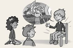"""""""Hot Seating"""" - Students learn then act as characters from a book to analyze/deepen understanding (the rest of the class asks that """"character"""", on the hot seat, questions about """"himself""""). LOVE."""