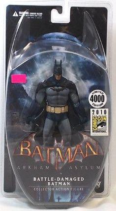 DC Batman Arkham Asylum Battle-Damaged Batman