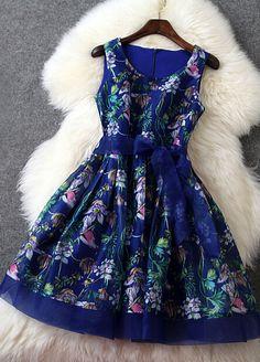 Beautiful blue floral dress