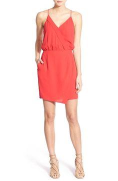 Chelsea28 Crepe Wrap Front Blouson Dress