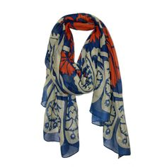 Great Pines Blue Scarf