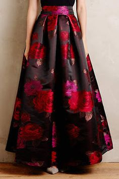 Add a tie waist ribbon Composer Floral Ball Skirt African Dress, Indian Dresses, Indian Outfits, Skirt Outfits, Dress Skirt, Hijab Fashion, Fashion Dresses, Ball Skirt, Box Pleat Skirt