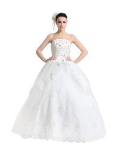 Artwedding Strapless Beaded and Rhinestone Satin « Dress Adds Everyday