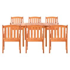 Vifah Sydney Six Seater 7pc Dining Set   Brown Part 73