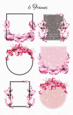 Watercolor Sakura blossom collection by Satika on Cherry Blossom Watercolor, Cherry Blossom Art, Blossom Flower, Anime Sakura, Sakura Haruno, Flower Frame, Flower Art, Watercolor Pictures, Different Holidays