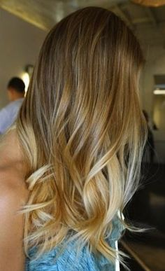 Just a touch lighter than her natural color, we love this look both because it probably takes less time and bleach to achieve, and because it's completely gorgeous.Image via Pinterest