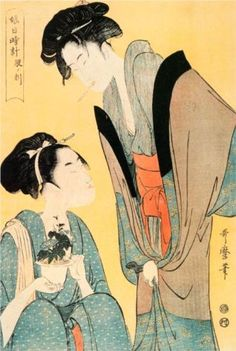 Twelve Hours of the Green Houses: The Hour of the Hare by Kitagawa Utamaro (5 AM - 7 AM)