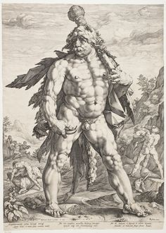 The Large Hercules by Hendrik Goltzius, 1589. Statens Museum for Kunst, CC0