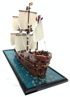 This was my part for the Rogue Bricks Pirates Collab for the Bricking Bavaria exhibition 2018 in munich. Thanks to all an was a pleasure to be a part of this fantastic building. Bateau Pirate Lego, Bateau Lego, Lego Pirate Ship, Lego Ship, Lego Minecraft, Minecraft Buildings, Lego Tree House, Construction Lego, Lego Boat