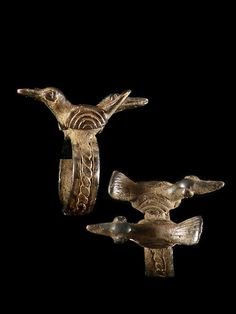 Africa | A 'bird' amulet ring from the Lobi people of Burkina Faso | ca. 1950