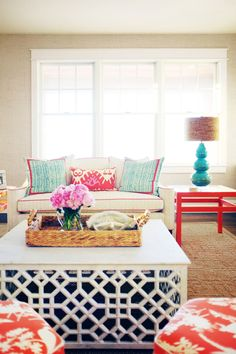 Coastal Summer House | Design by Jenny Wolf Interiors | Photo © Patrick Cline                                                  http://www.patrickclinephotography.com