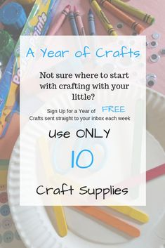 10 Essential Supplies for Crafting with Littles - Todays Little Moments Activities For 1 Year Olds, Activities To Do, 2 Year Olds, Creative Play, Winter Fun, Toddler Preschool, Mailbox, Kids Learning, Lesson Plans