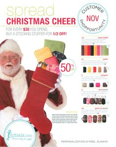 NOV Customer Special this month. These make great stocking stuffers and if you order with me by Dec 9th, you will receive by X-MAS!!!                        www.myinitials-inc.com/14093 or send me a message at melinda432@yahoo.com