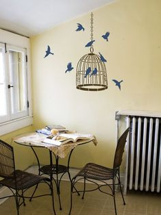Wall Stencil Freedom - Wall Stencils for Easy Decor - Better than wall decals. $39.95, via Etsy.