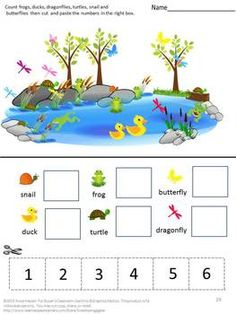 All creatures enjoy the warmer weather of spring. Students, too, can enjoy the signs of spring with this Spring Fun Down At The Pond. This set consists of 30 pages using frog, turtles, ducks, dragonflies, butterflies and other spring related graphics. Color Matching What Comes Next Letter-upper case, low case Matching Shape Matching Number Matching Counting Addition Subtraction Which is one is different? Which group has more? Which group has less? Counting Fun Down at the Pond