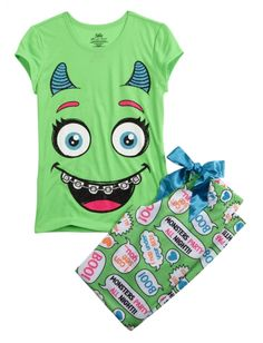 Shop Monster Pajama Set and other trendy girls pajamas pjs, bras & panties at Justice. Find the cutest girls pjs, bras & panties to make a statement today. Cute Pjs, Cute Pajamas, Visual Kei, Cute Girl Outfits, Kids Outfits, Little Girl Fashion, Kids Fashion, Justice Pajamas, Justice Clothing