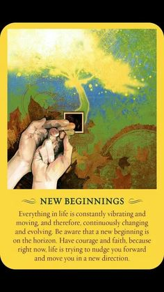 New Beginnings. Angel Guidance, Spiritual Guidance, Spiritual Awakening, Spiritual Quotes, Spiritual Enlightenment, Reiki, Archangel Prayers, Jolie Phrase, A Course In Miracles