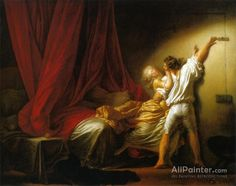 Jean Honore Fragonard,The Lock oil painting reproductions for sale