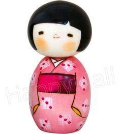 Kokeshi Doll, Young Lady in Summer Cloth, 4.8H