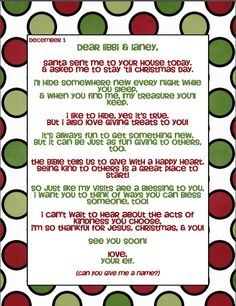 Love this poem to arrive with elf. The activities are super sweet as well. 25 days of christmas kindness